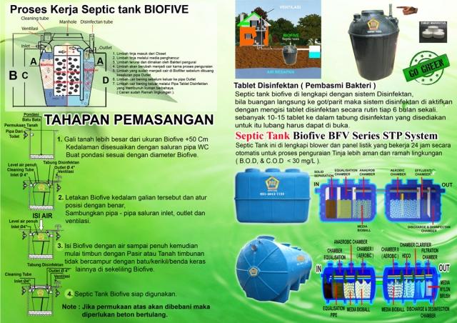 cara pasang septic tank biofive